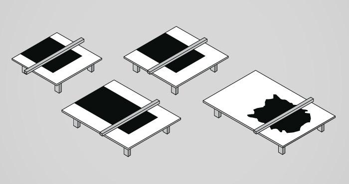 unterschiedliche Tischgrößen Cutter